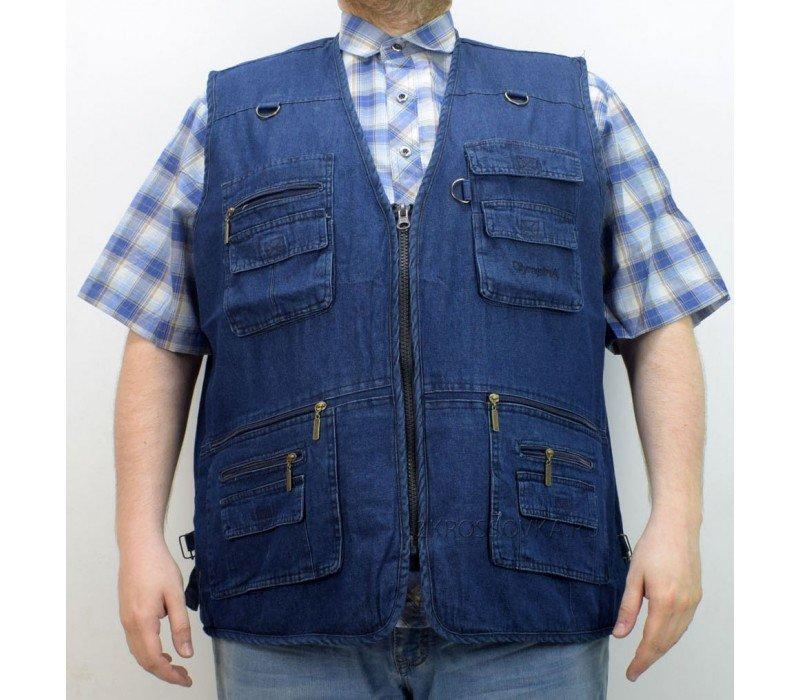 Купить Жилет джинсовый Olympina 2601-3 в магазине 2Krossovka