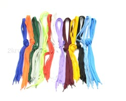 Шнурки Темно-синие широкие 90 см