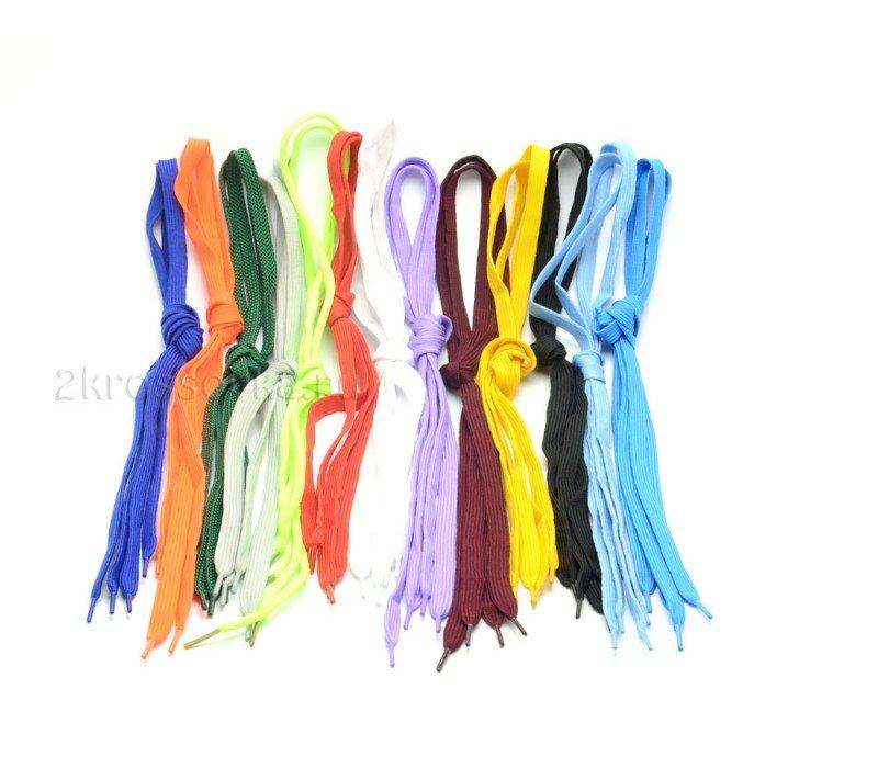 Купить Шнурки светло-синие широкие 90 см в магазине 2Krossovka