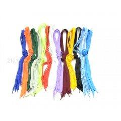 Шнурки белые широкие 90 см